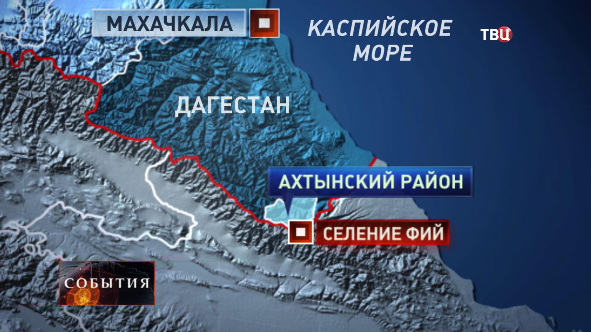 Карта Махачкалы
