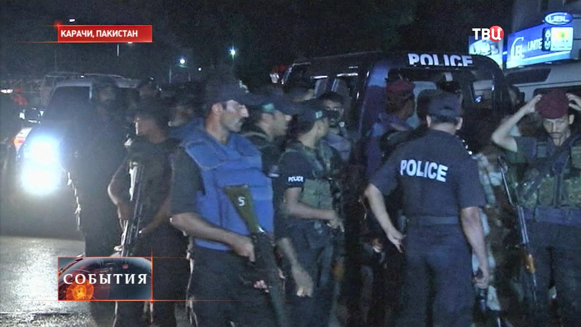 Полиция на месте теракта