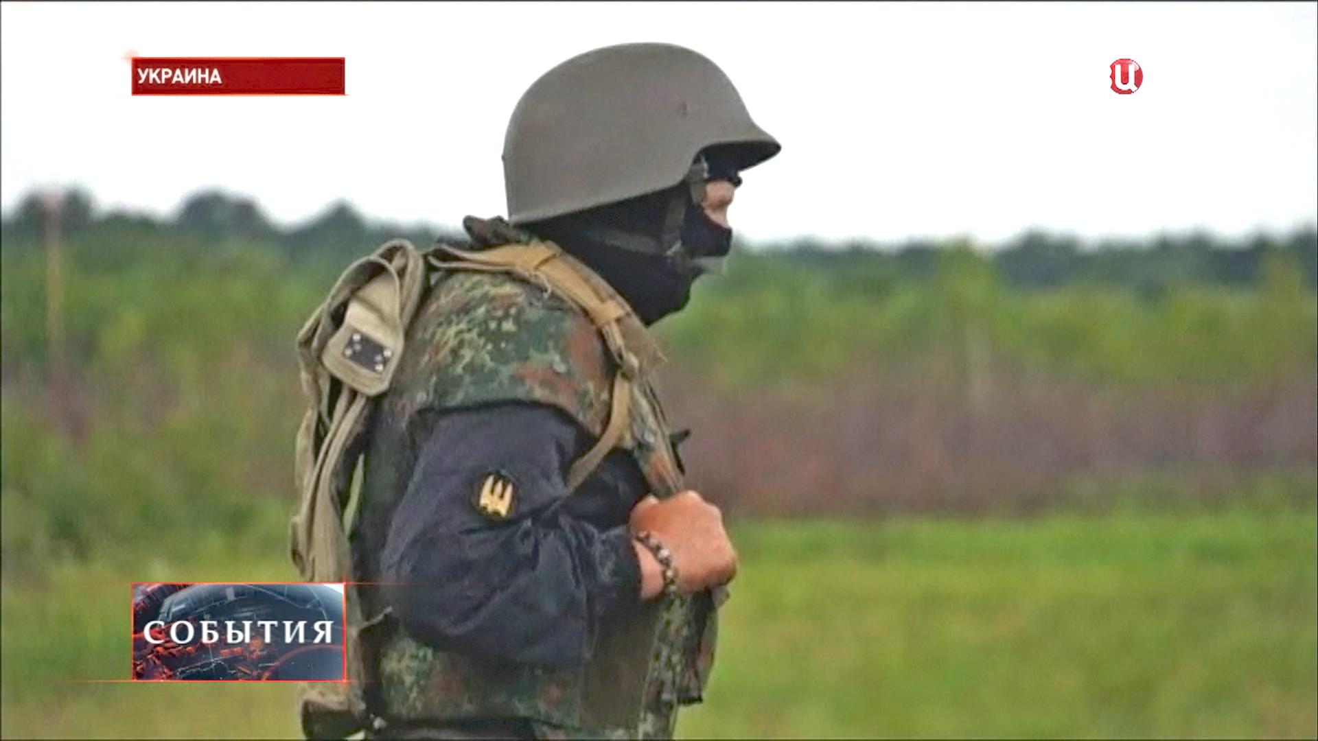 Боец батальона «Азов» Национальной гвардии Украины