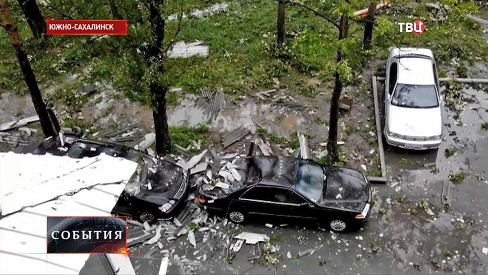 Последствия урагана на Сахалине