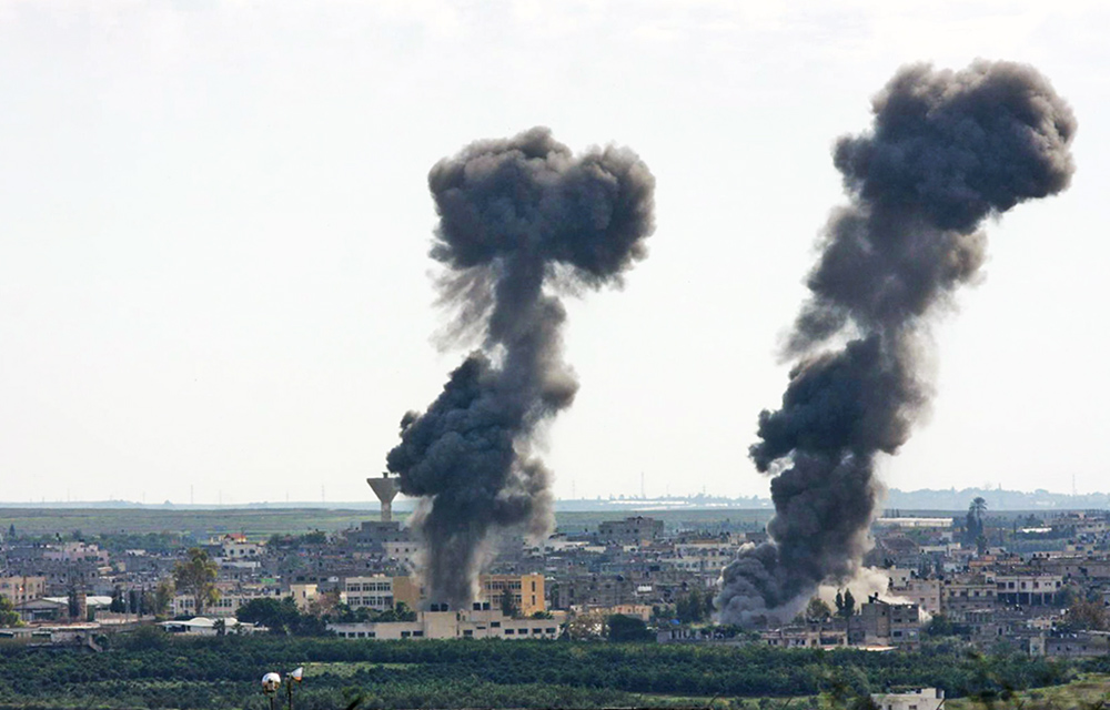 Израильская бомбардировка сектора Газа