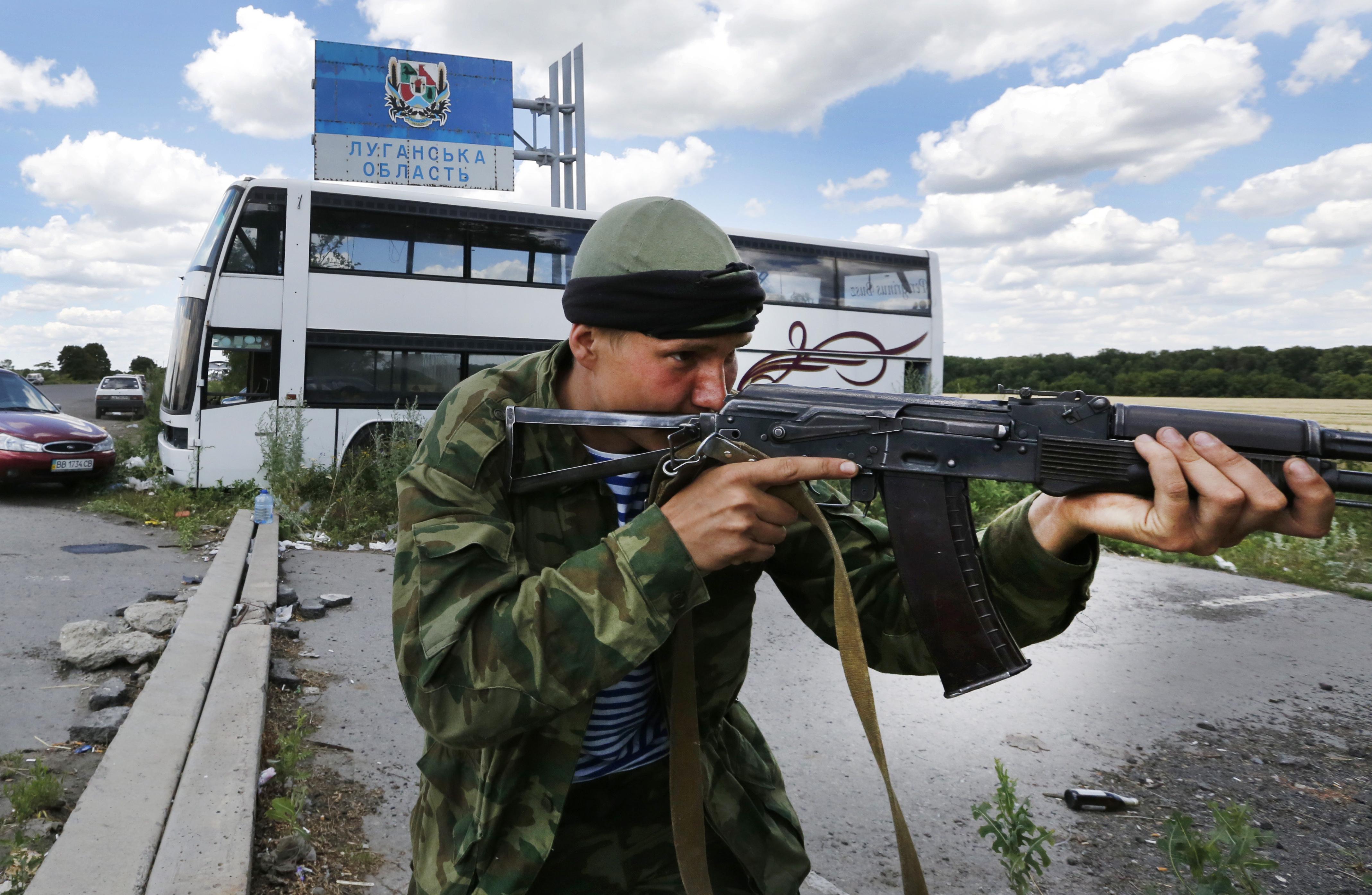"""Пропускной пограничный пункт """"Должанский"""" на украинско-российской границе"""