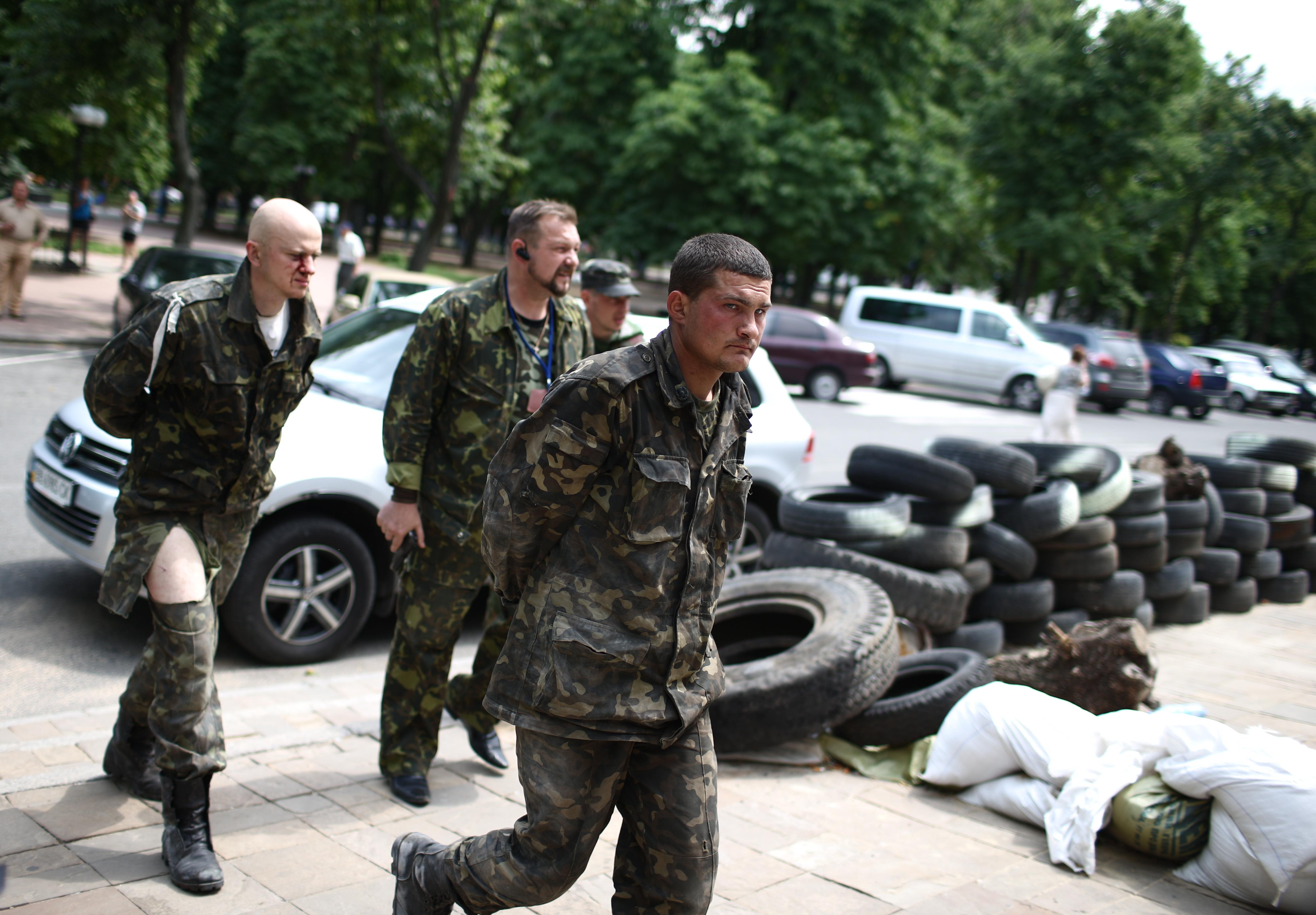 Пленные из Национальной гвардии Украины