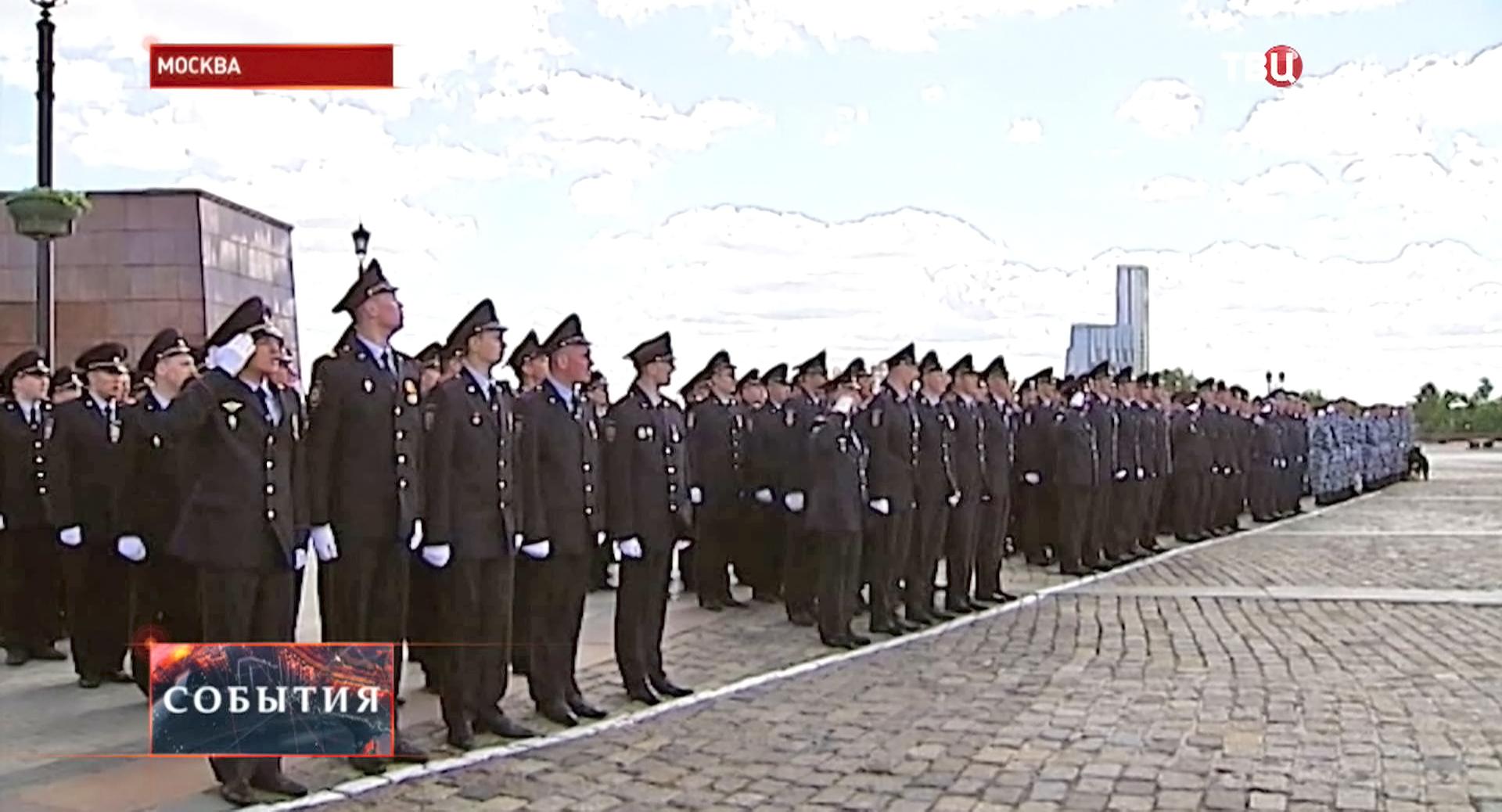 Торжественная церемония нового знамя московским полицейским