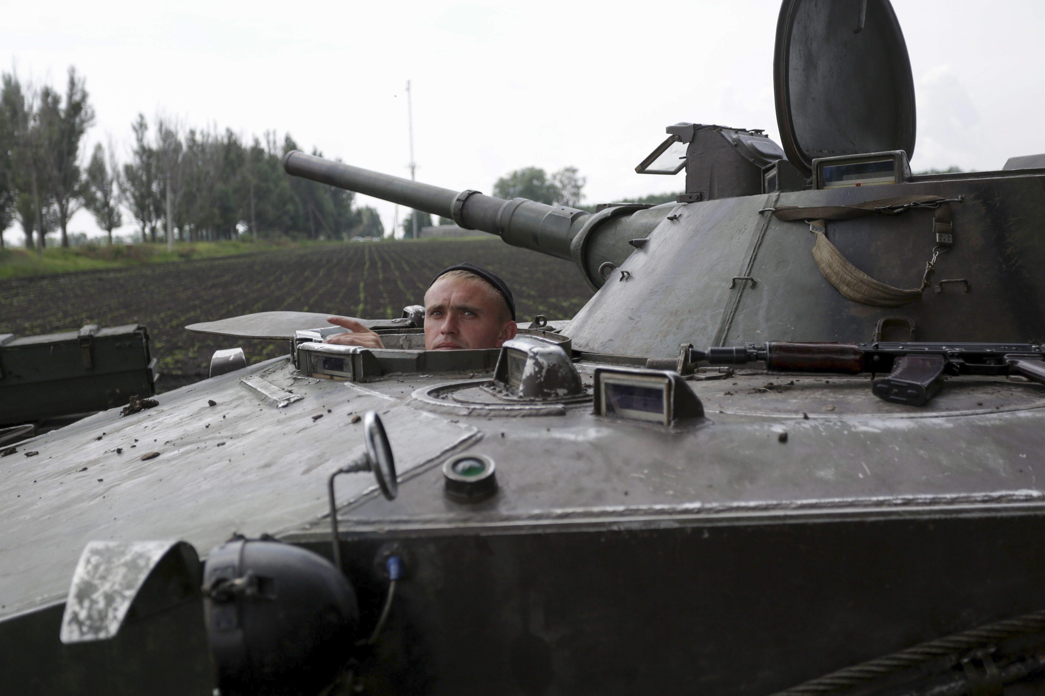 Механик-водитель БМД украинской армии
