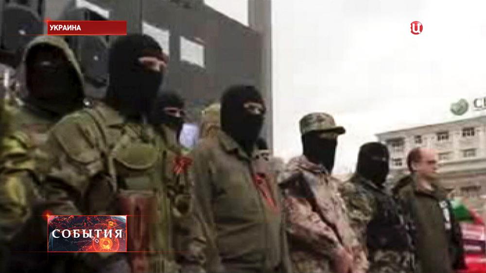 Бойцы самообороны Донецка