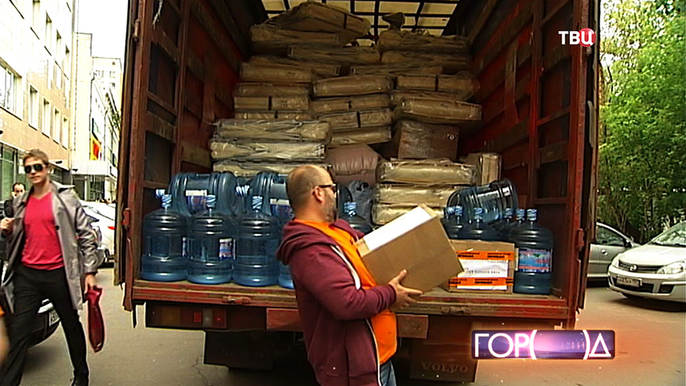 Сбор гуманитарной помощи для беженцев с Украины