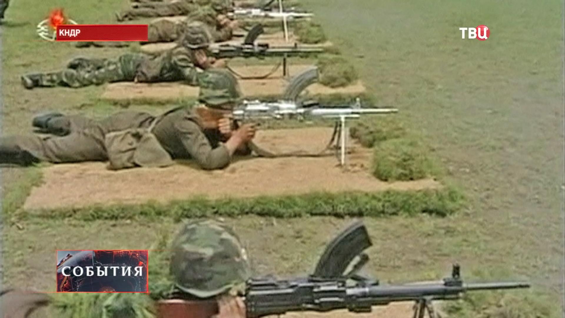 Военные учения в КНДР