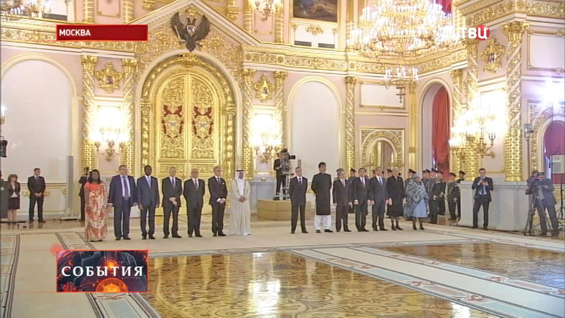 Церемония вручения Владимиру Путину верительных грамот