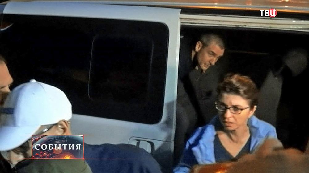 Освобожденные наблюдатели ОБСЕ в Донецке