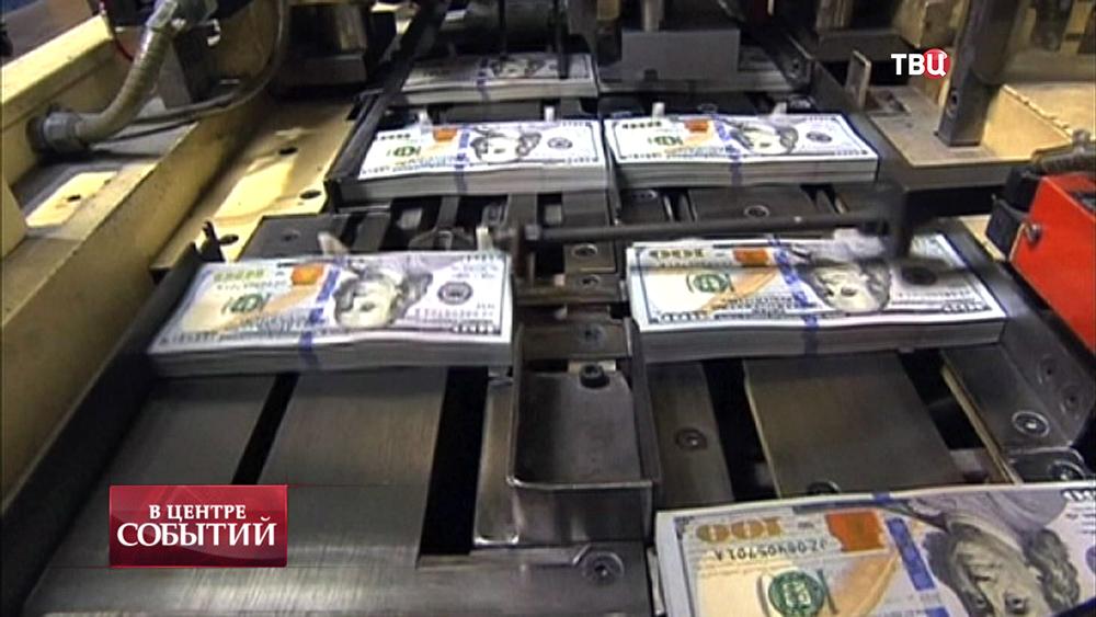 Печать долларовых купюр