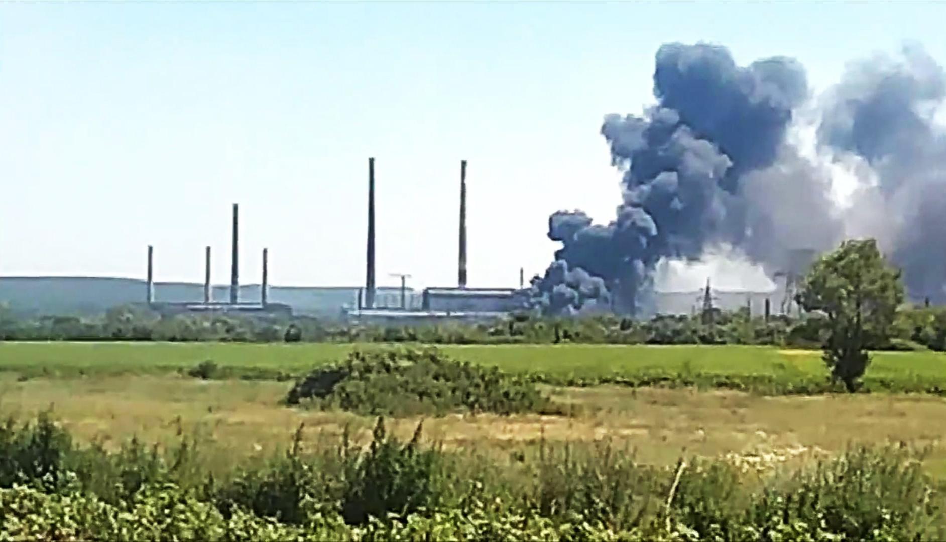 Николаевская ТЭС после обстрела