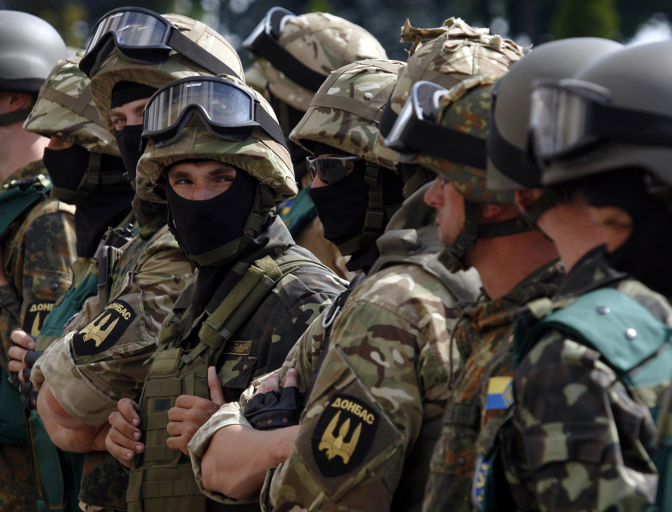 """Бойцы батальона """"Донбасс"""""""