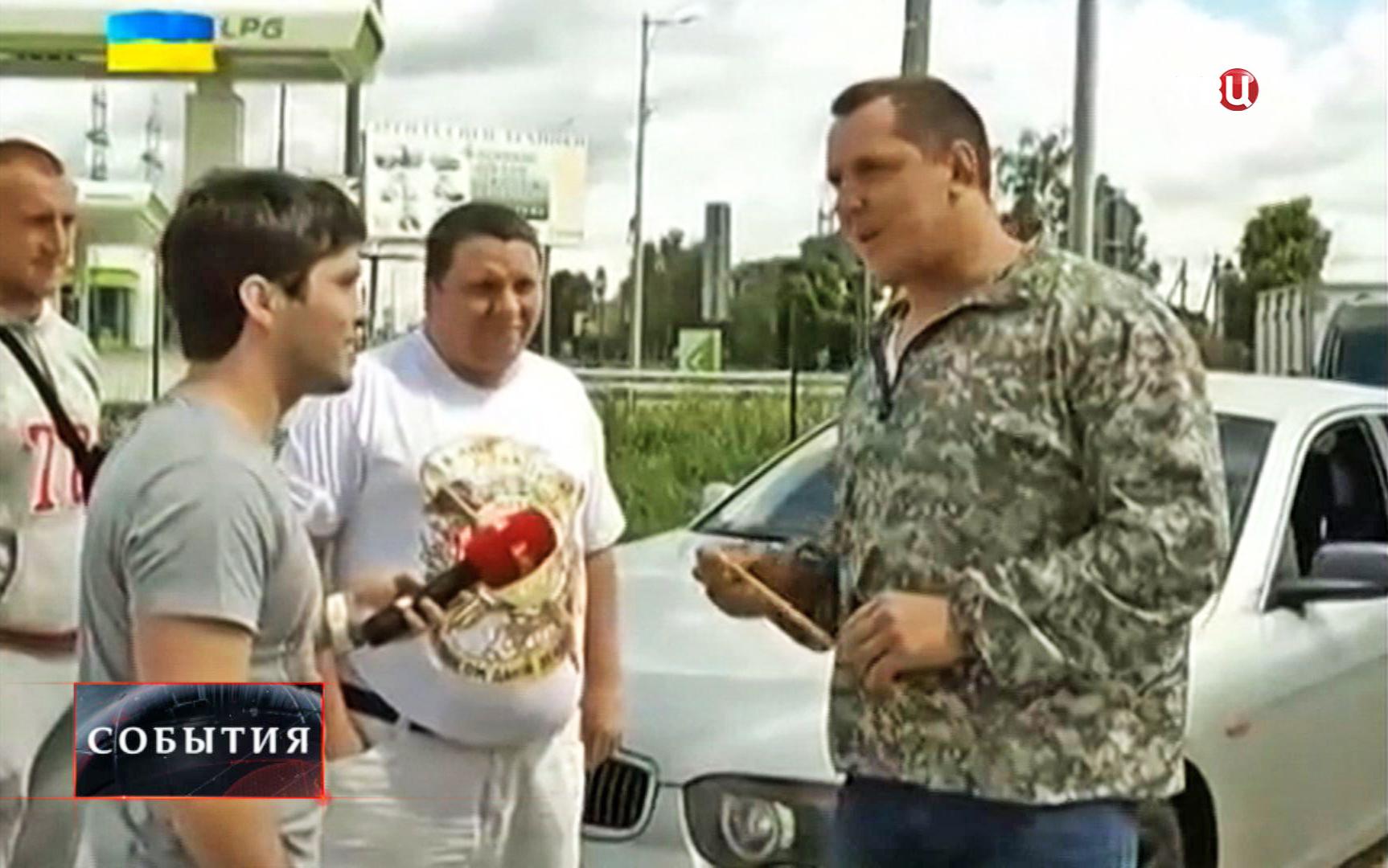 Журналисты украинского телеканала