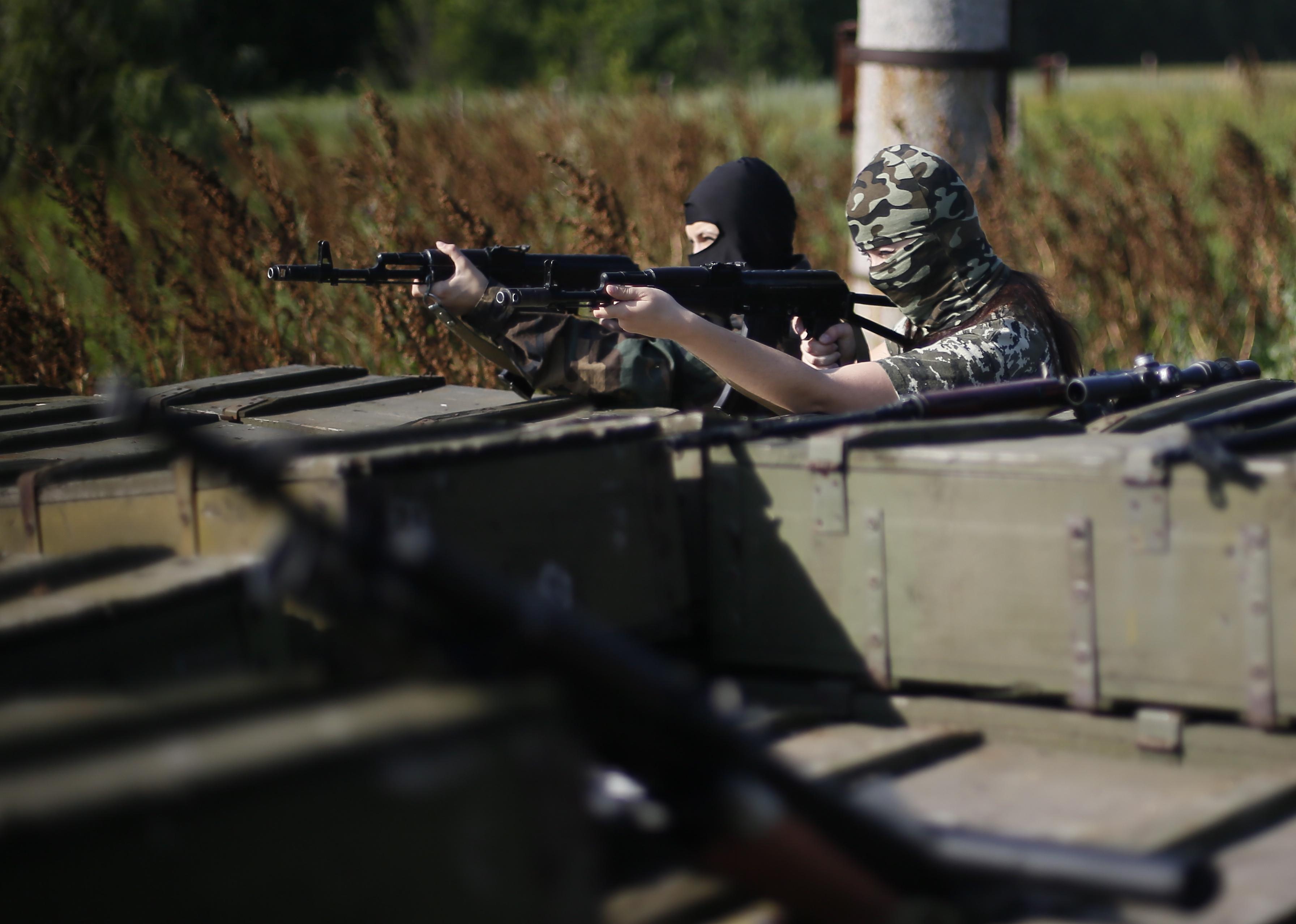 """Бойцы женского подразделения батальона """"Русь"""" ополчения Донбасса"""
