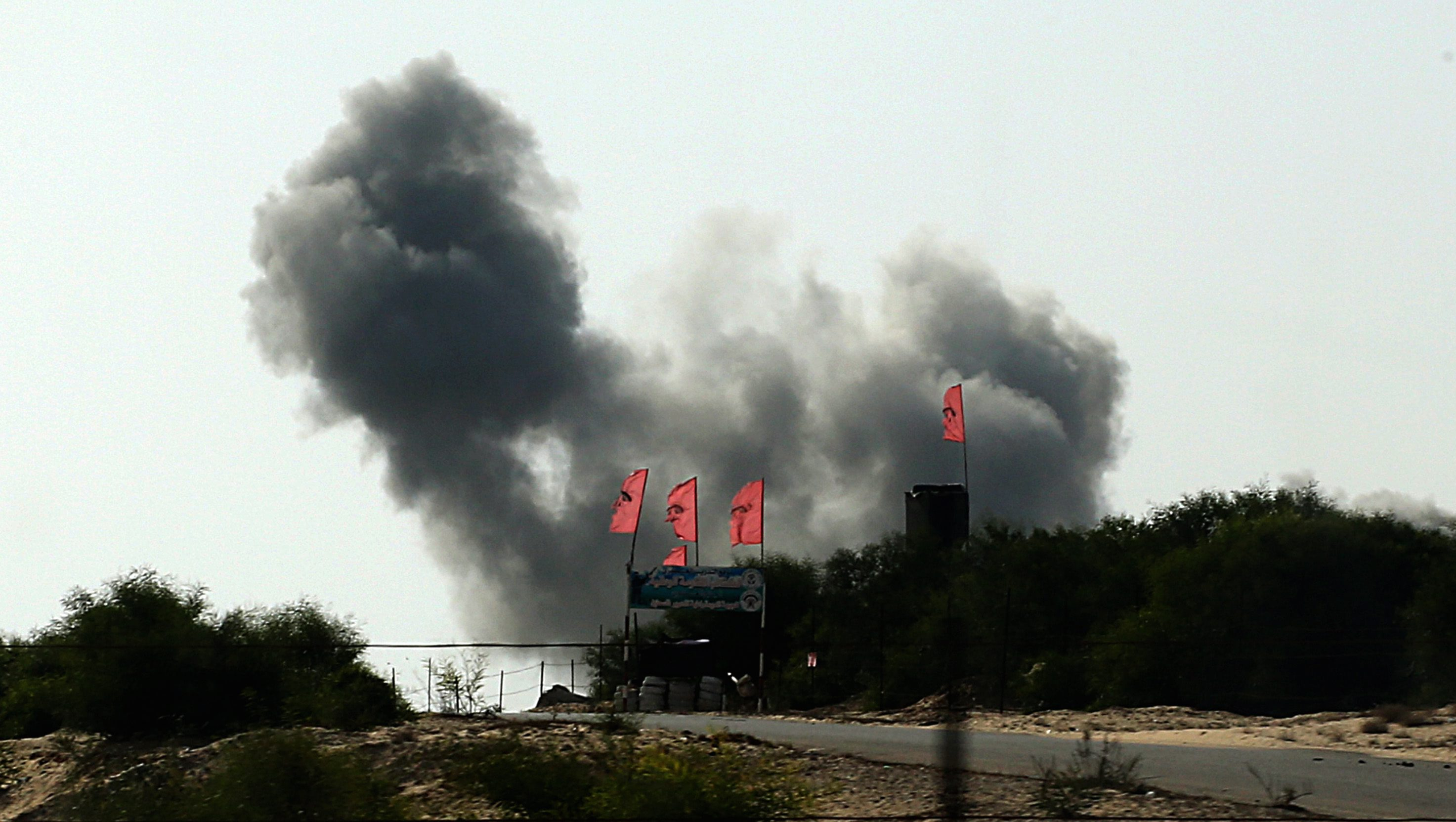 Последствия авиаудара израильских ВВС