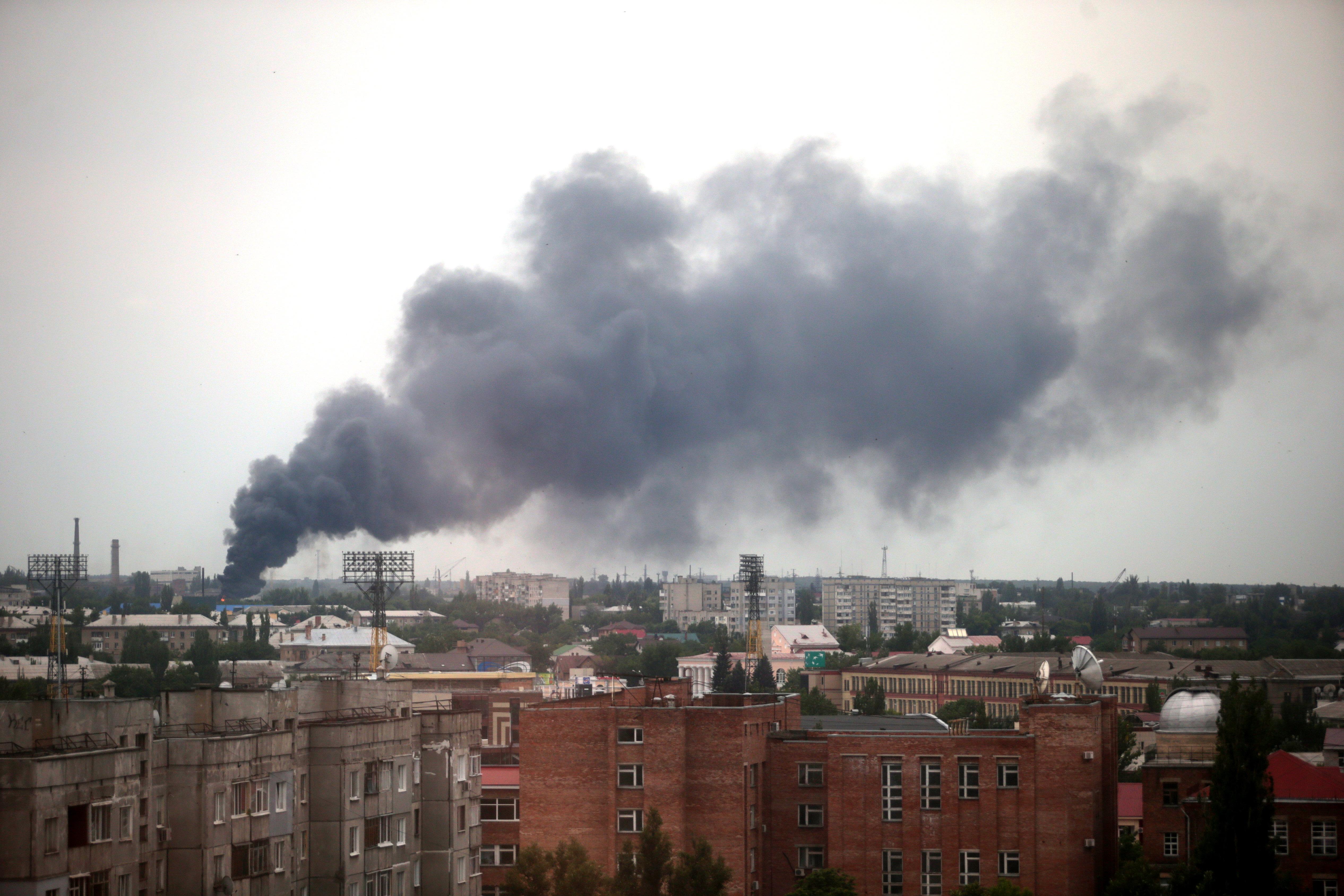Обстрел Луганска украинскими военными