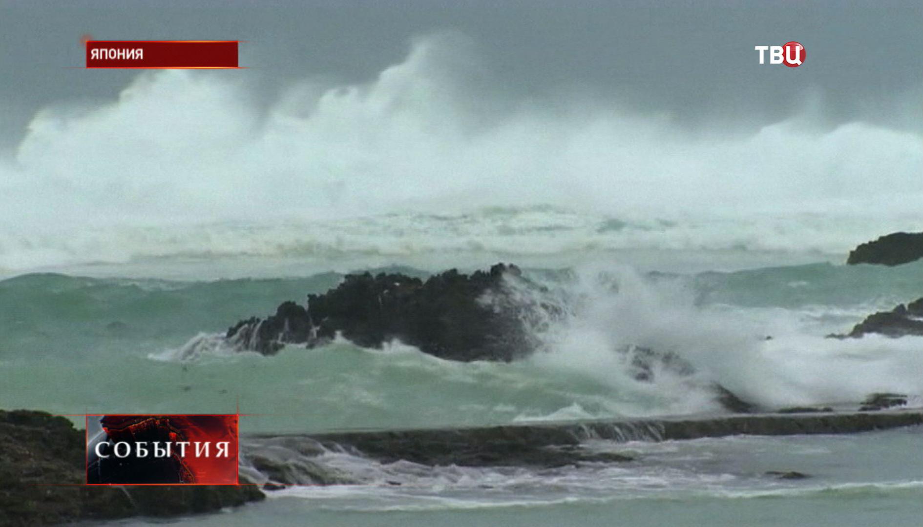 """Тайфун """"Неогури"""" достиг побережья Японии"""