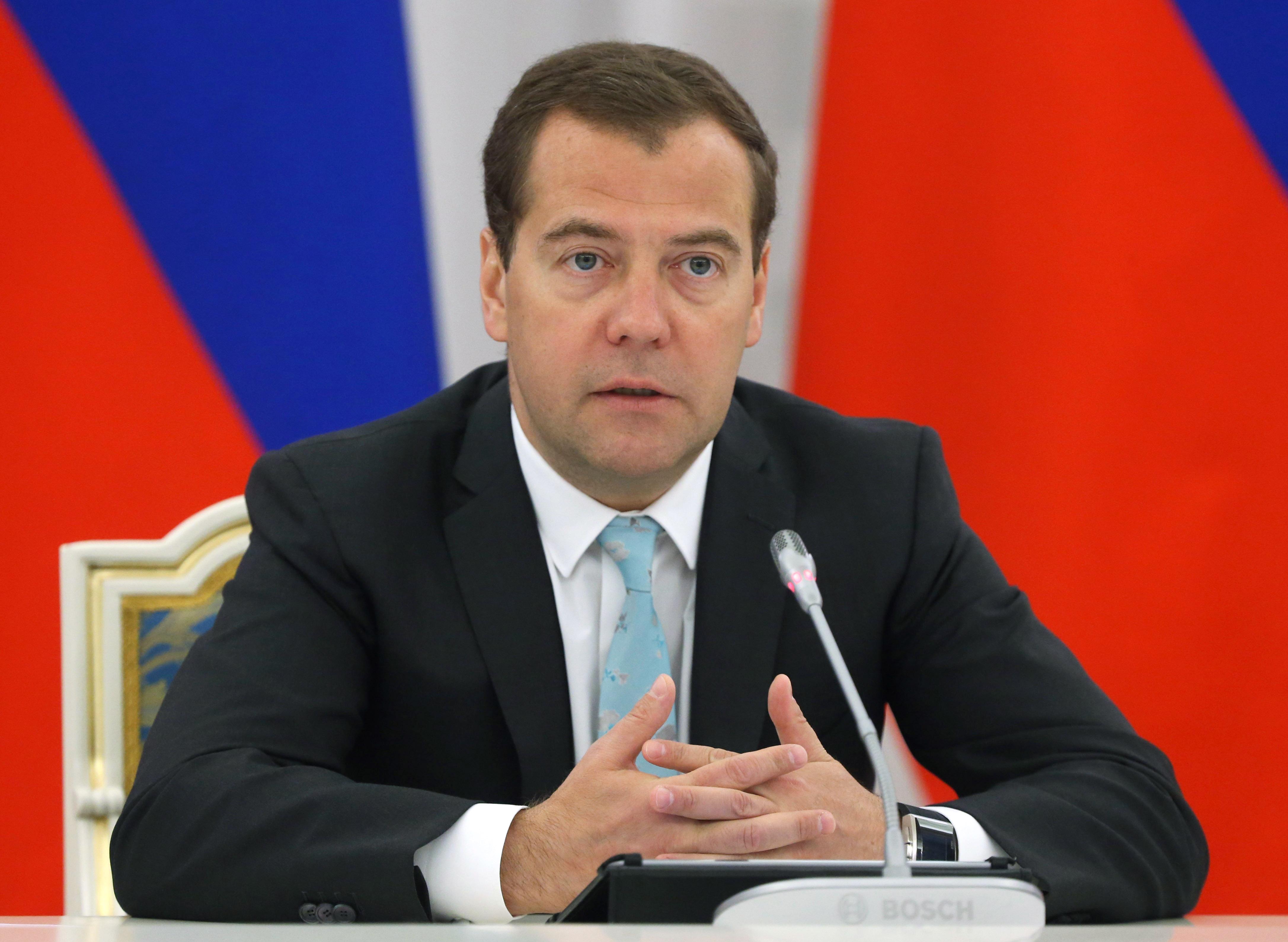 Дмитрий Медведев на совещании президиума Совета при президенте по реализации приоритетных нацпроектов
