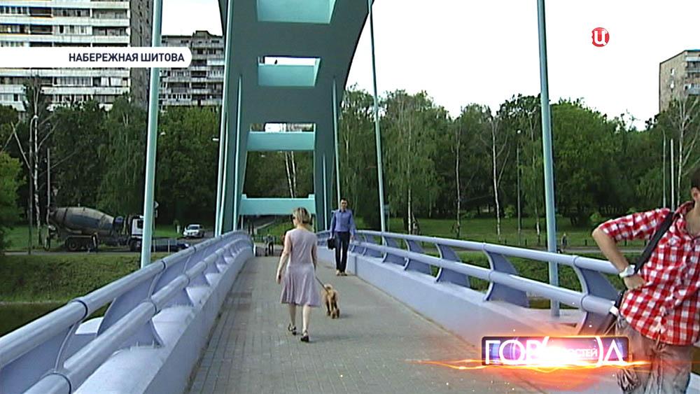 Пешеходный мост через Черкизовский пруд