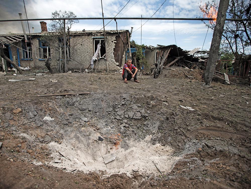 Последствия авиаудара Украинских ВВС