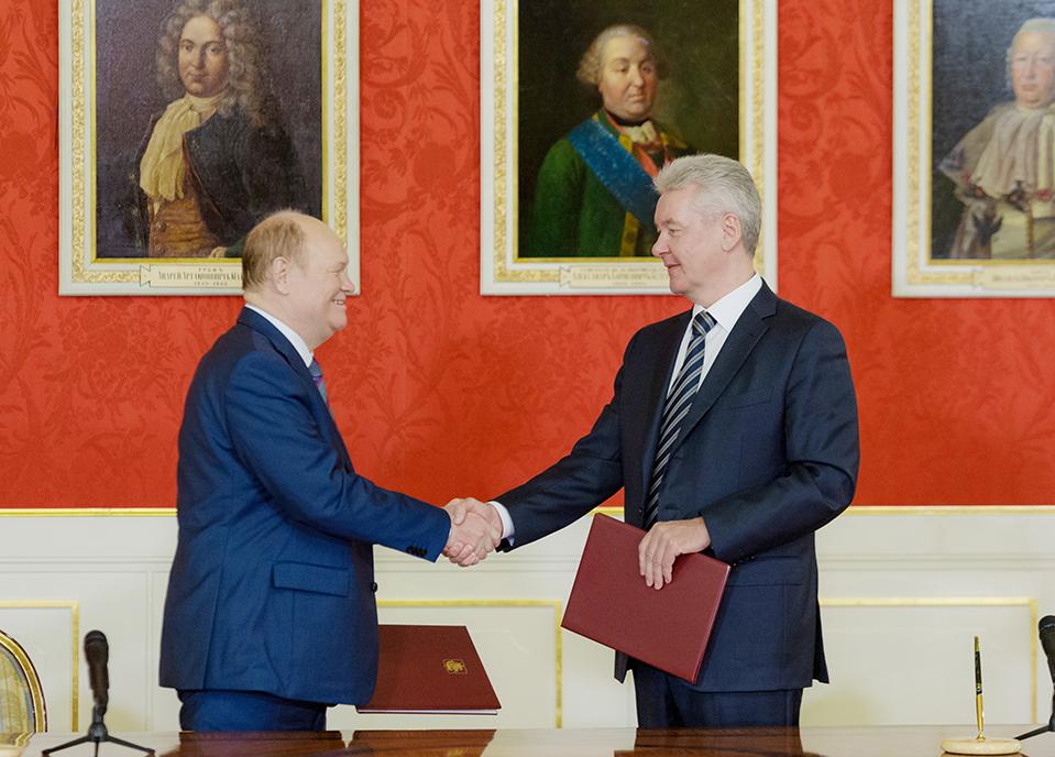 мэр Москвы Сергей Собянин и губернатор Пензенской области Василий Бочкарёв