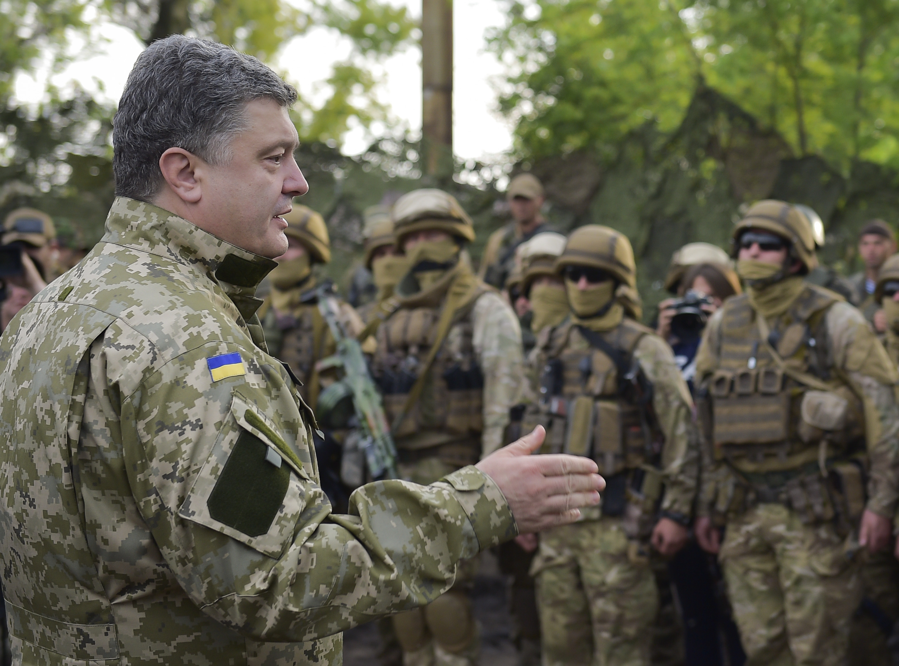 Рабочая поездка президента Украины Петра Порошенко в Славянске