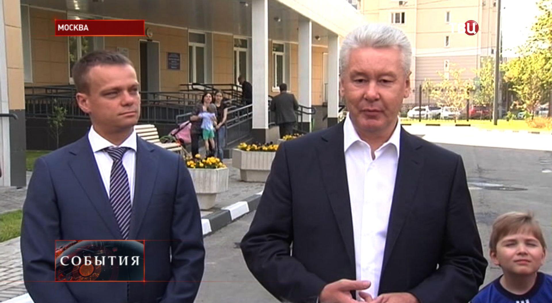 Сергей Собянин осматривает новую поликлинику в ЮВАО