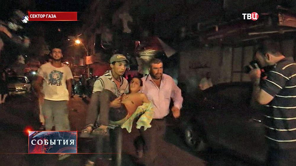 Последствия обстрела сектора Газа