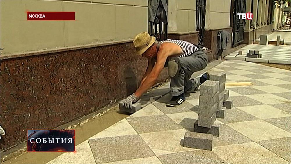 Укладка тротуарной плитки на Пятницкой улице