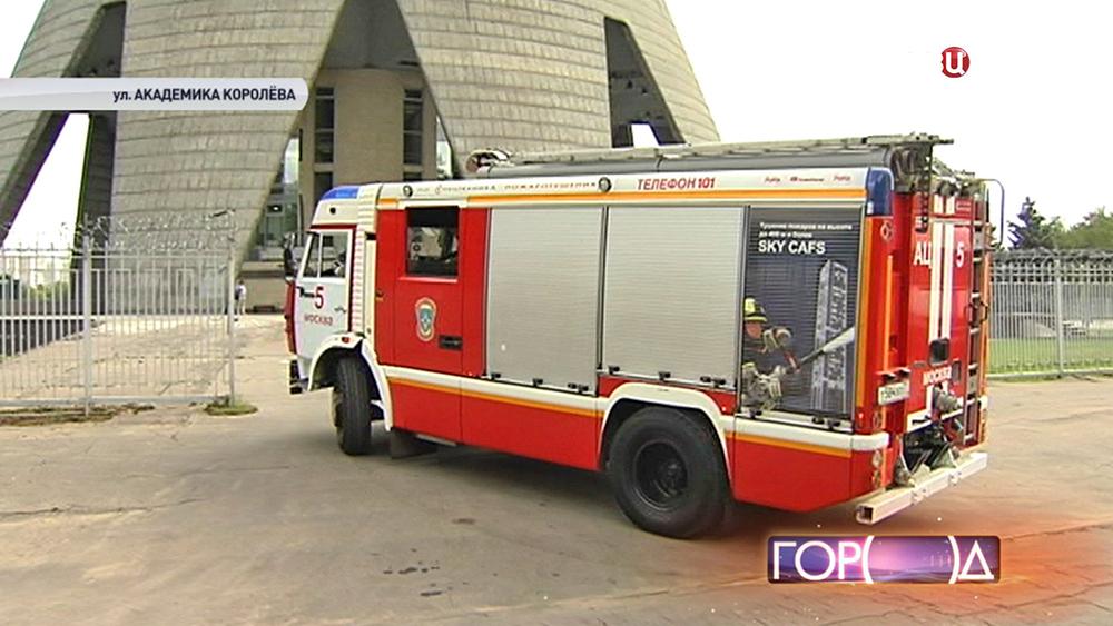 Пожарные учения на Останкинской башне