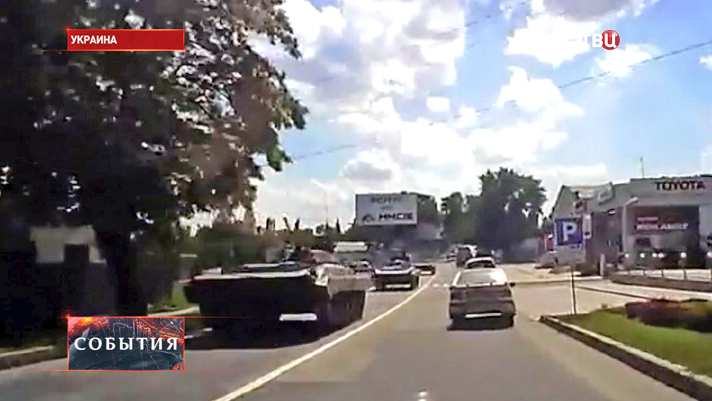 Переброска украинской военной техники