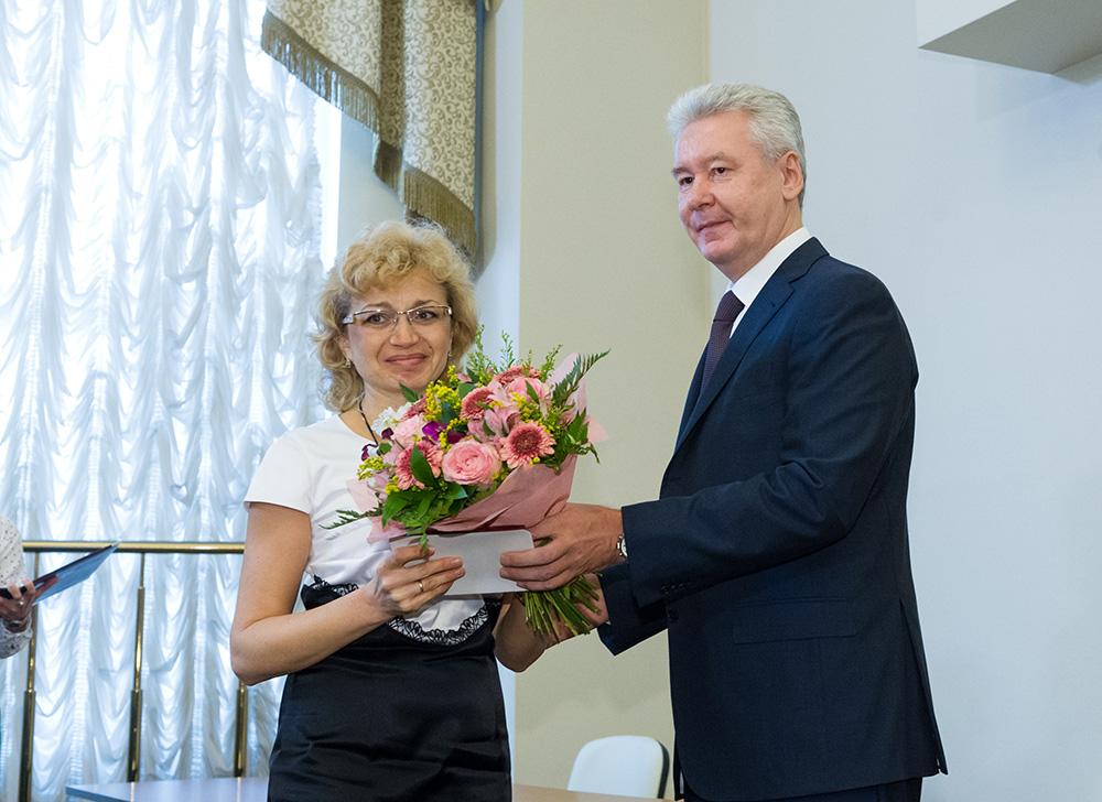 Сергей Собянин поздравляет работников Девятого арбитражного апелляционного суда