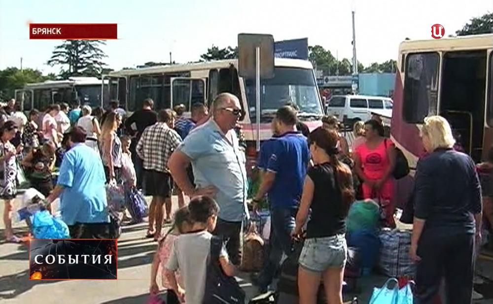 Беженцы с Украины в Брянске