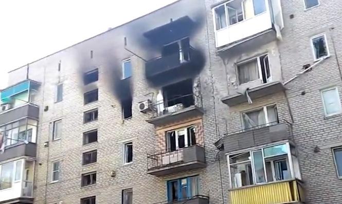 Обстрел населенных пунктов востока Украины
