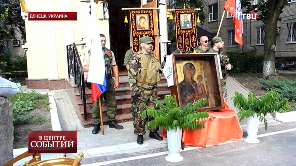 Икону Тихвинской Божьей Матери доставили в Донецк