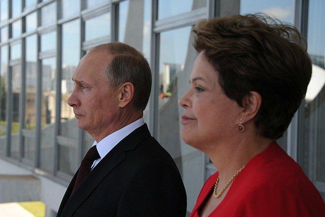 Владимир Путин и Дилма Руссефф