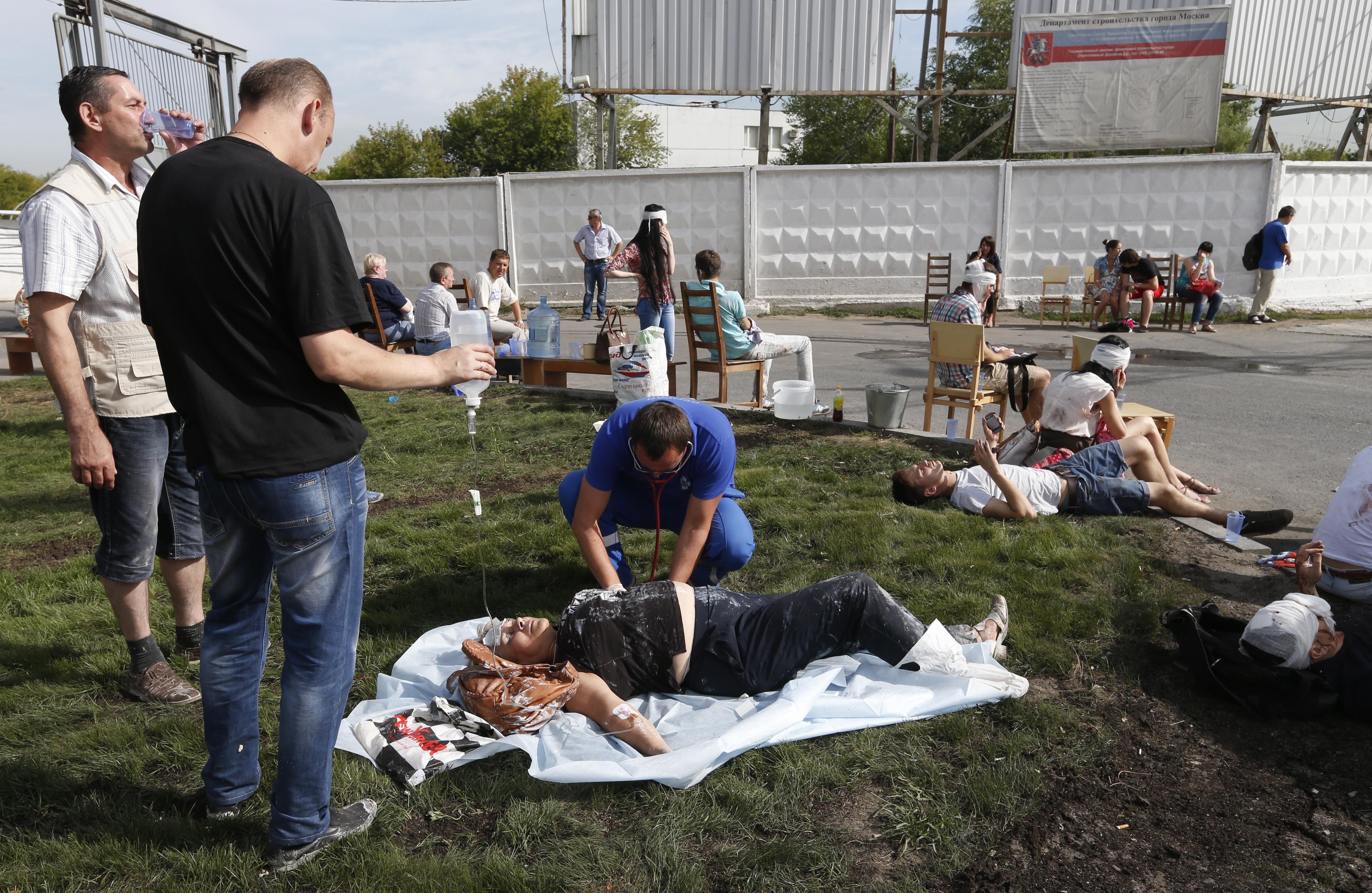 Пострадавшие в результате аварии в метро
