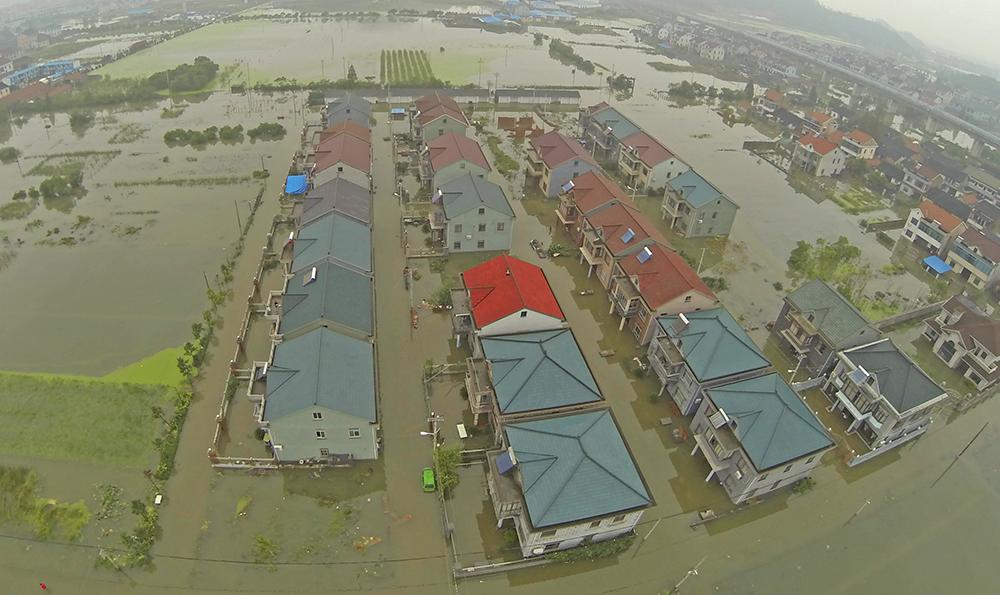 """Последствия тайфуна """"Раммасун"""" в Китае"""