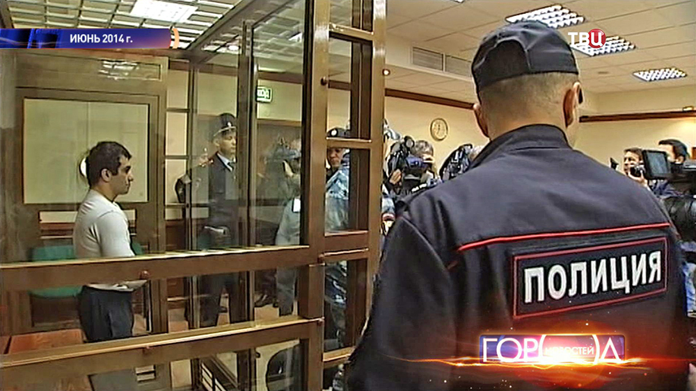 Орхан Зейналов во время судебного процесса