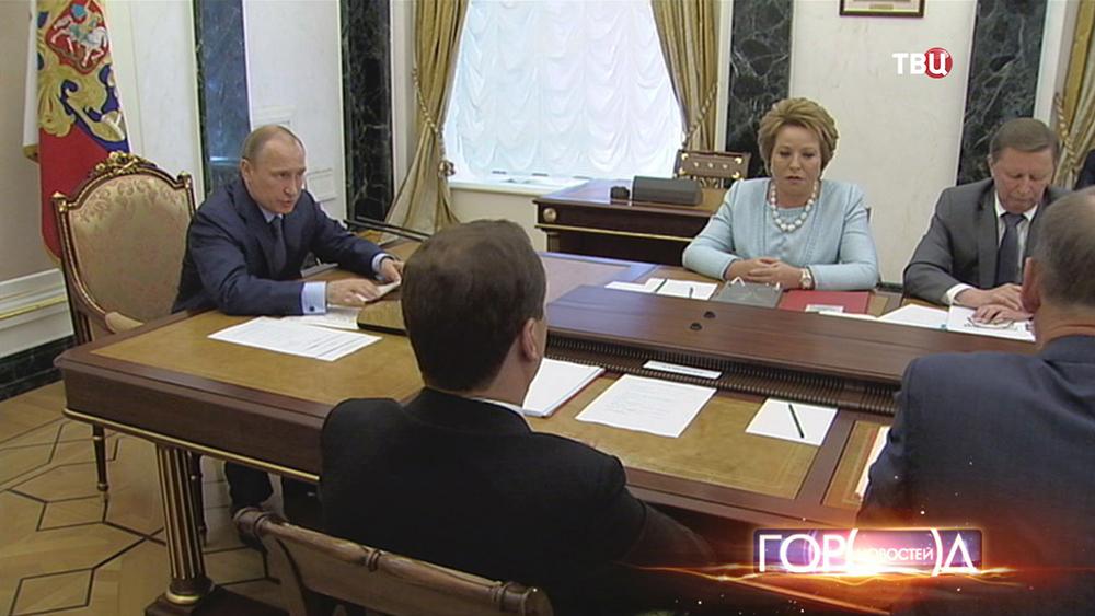 Владимир Путин на заседании Совбеза РФ