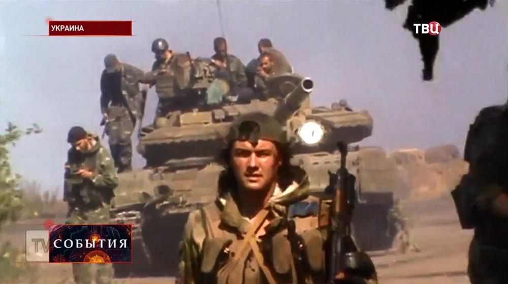 Бойцы самообороны ДНР