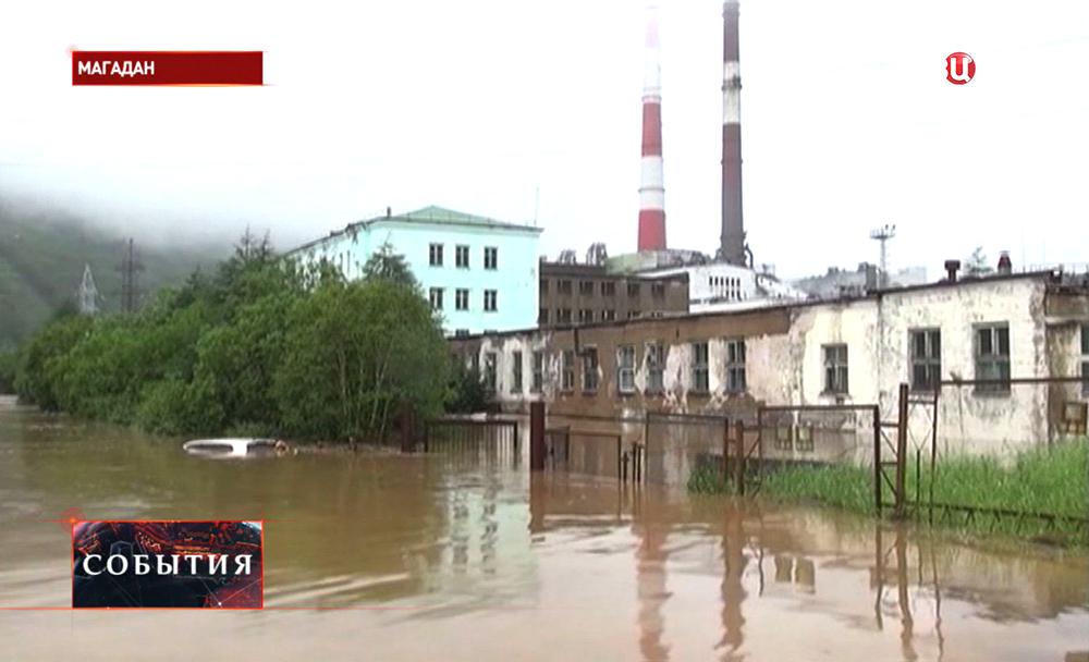 Наводнение в Магадане