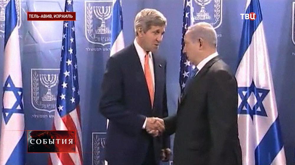 Госсекретарь США Джон Керри и премьер-министр Израиля Биньямин Нетаньяху