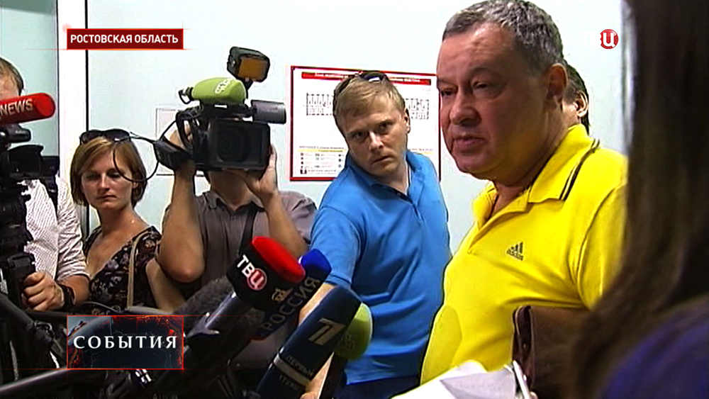 Представитель Украинского консульства дает интервью