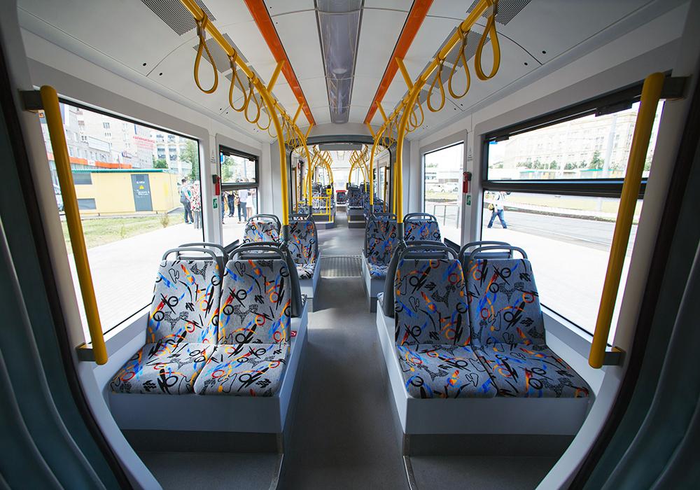 Салон нового трамвая