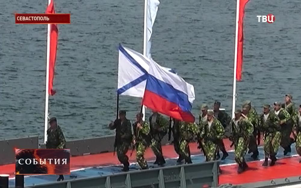 Праздничный парад ВМФ в Севастополе