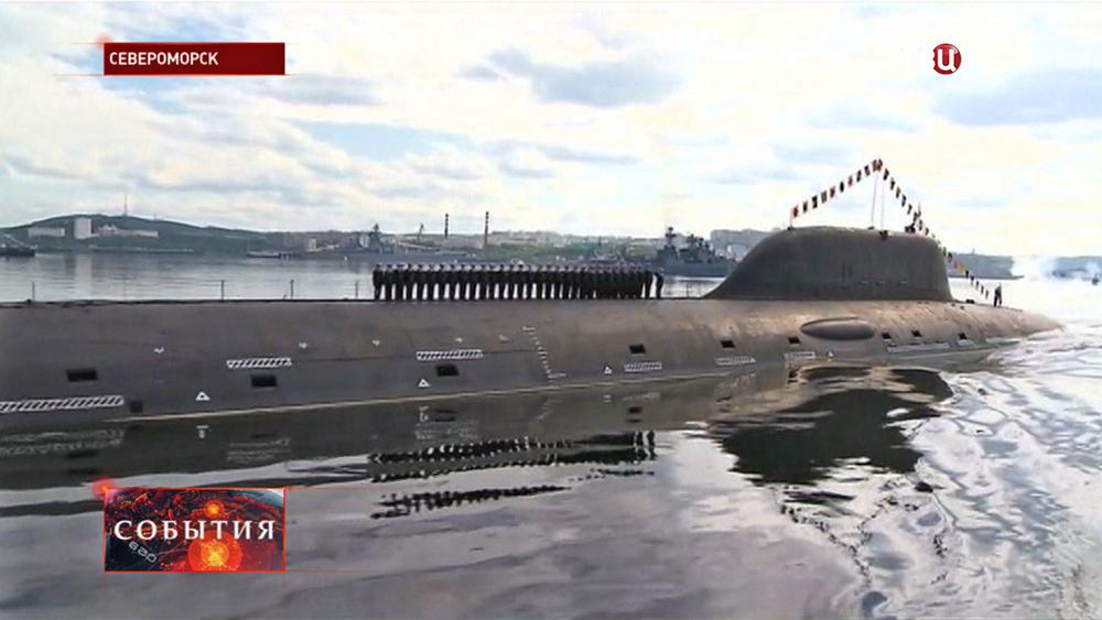Экипаж подводной лодки в Североморске
