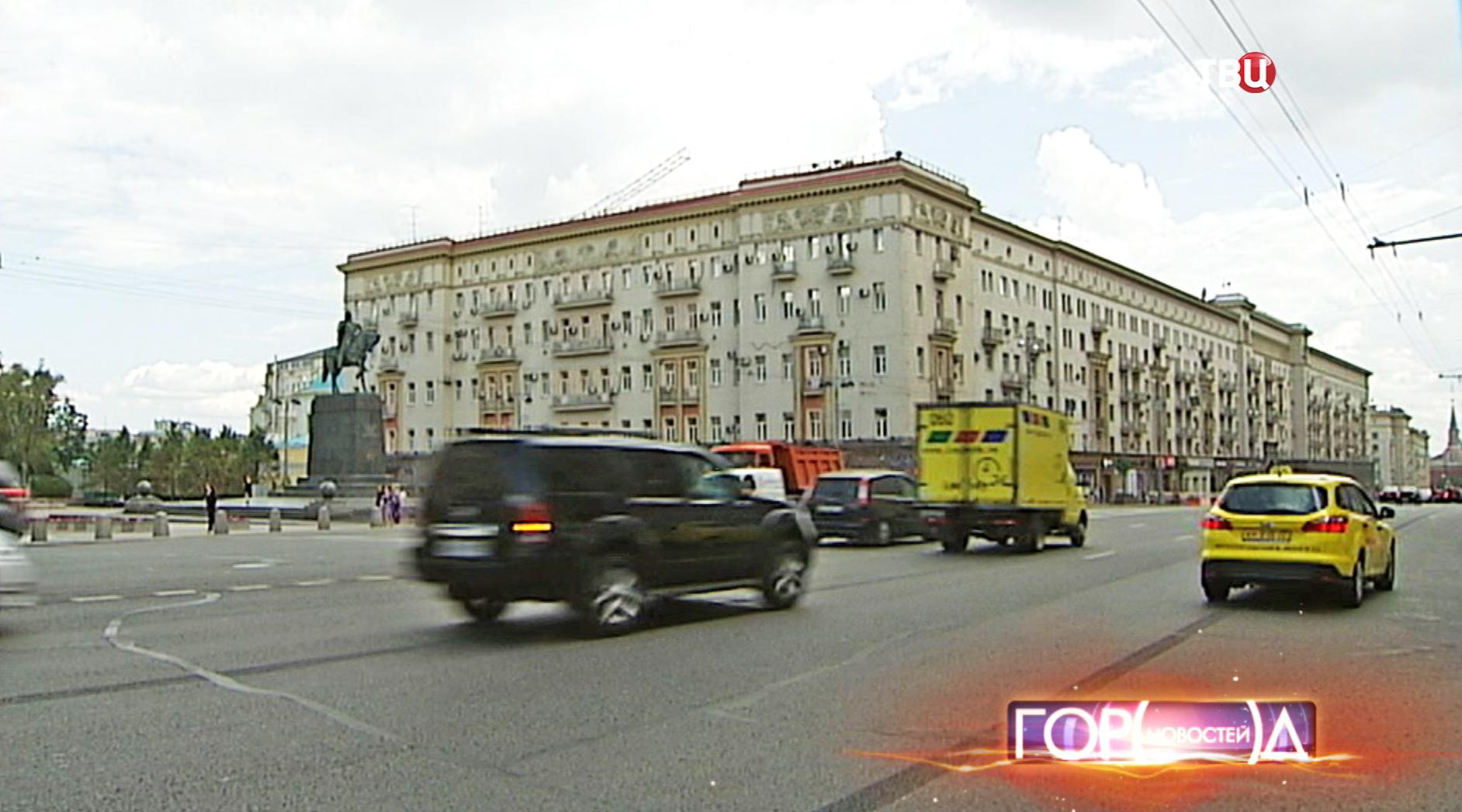 Движение автотранспорта в Москве