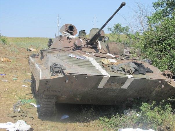 Брошенный БМП украинской армии